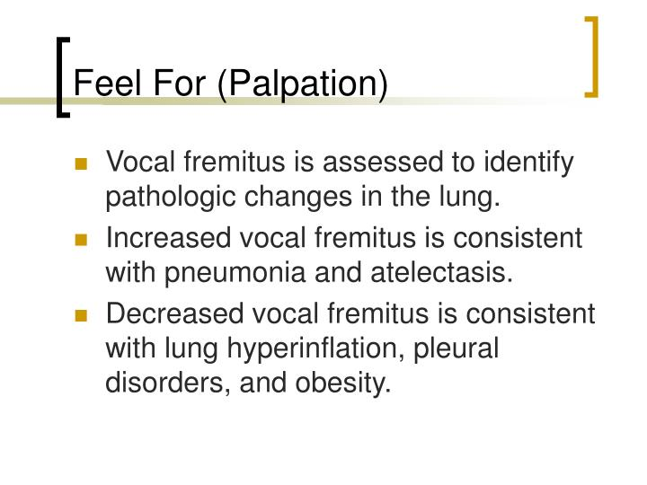 Feel For (Palpation)