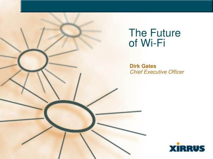 The future of wi fi