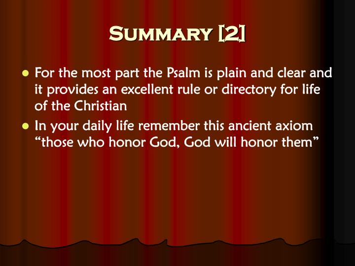 a psalm of life summary