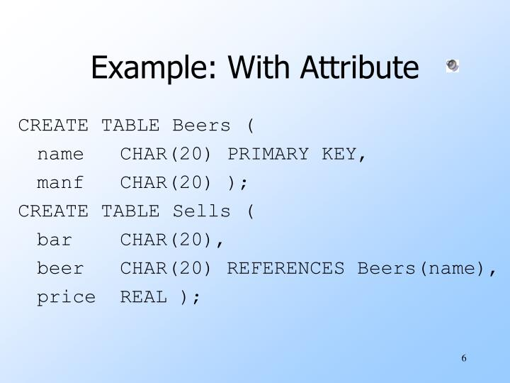 Example: With Attribute