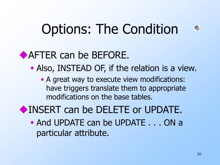 Options: The Condition