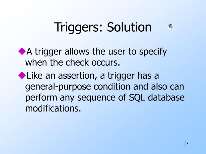 Triggers: Solution