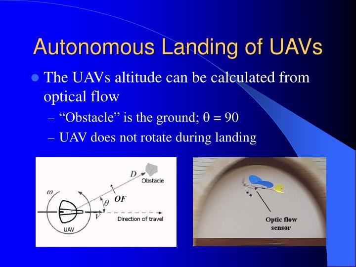 Autonomous Landing of UAVs