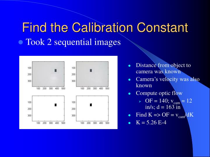 Find the Calibration Constant