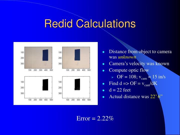 Redid Calculations