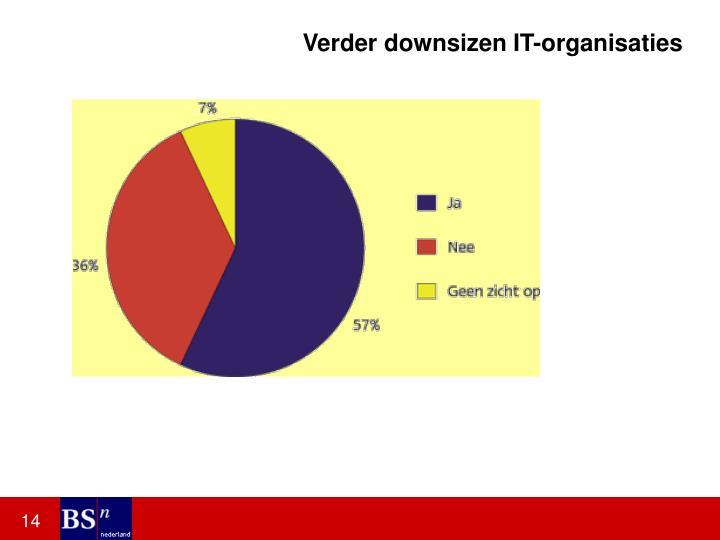 Verder downsizen IT-organisaties