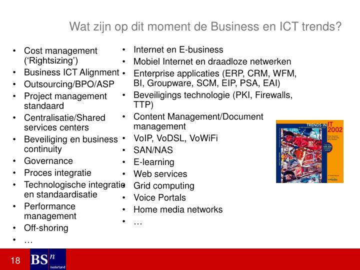 Wat zijn op dit moment de Business en ICT trends?