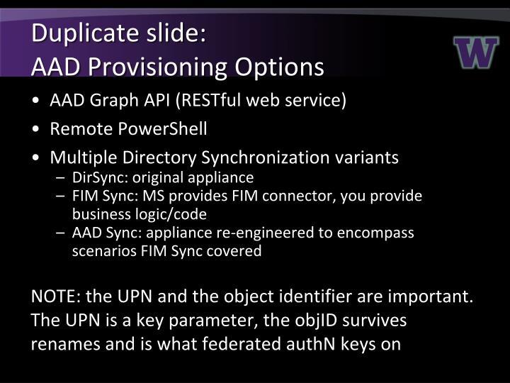 Duplicate slide: