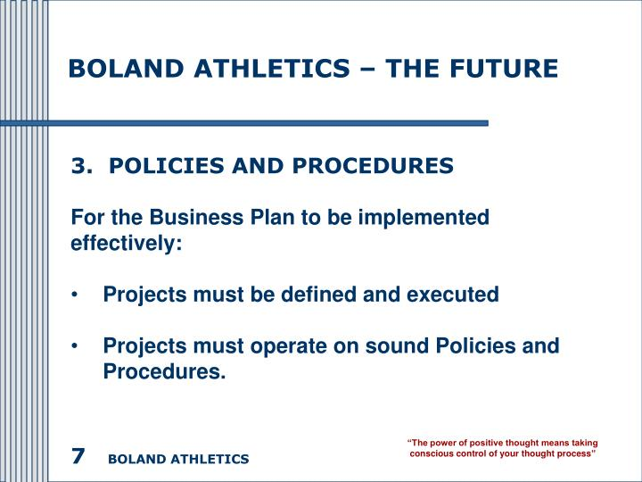 BOLAND ATHLETICS – THE FUTURE