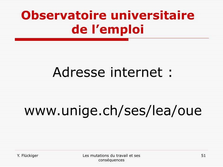 Observatoire universitaire de l'emploi