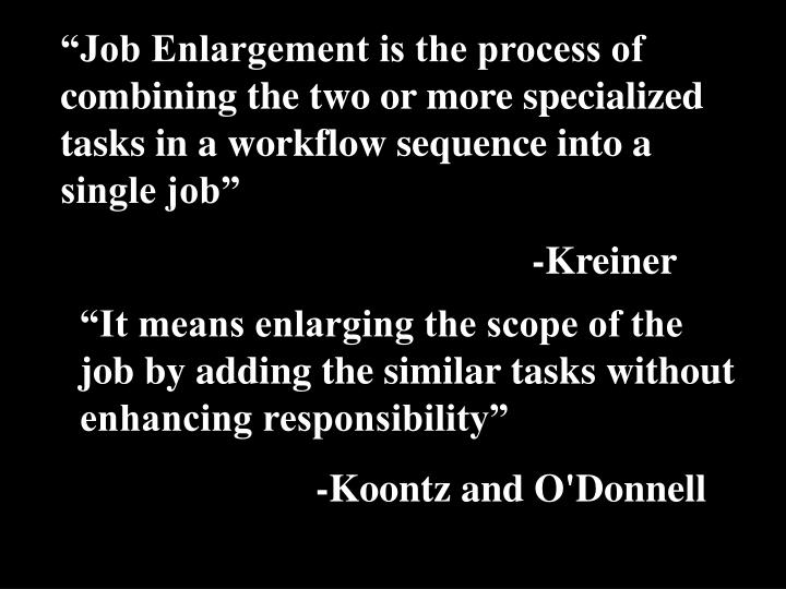 job enrichment process