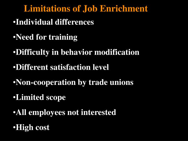 job enrichment motivation