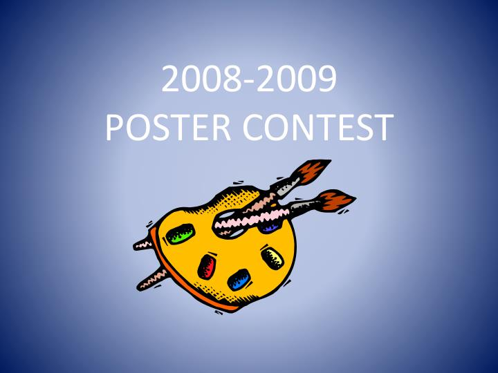 2008 2009 poster contest n.