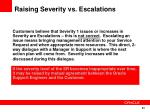 raising severity vs escalations