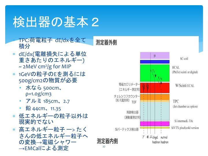 検出器の基本2
