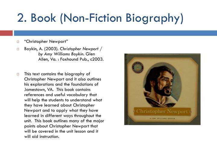 2 book non fiction biography