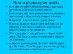 how a photocopier works