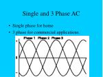 single and 3 phase ac