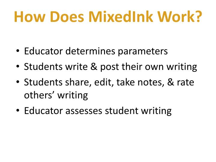 How does mixedink work