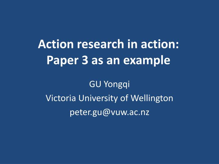 action research steps with examples ppt