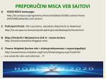 preporu eni ms c a veb sajtovi