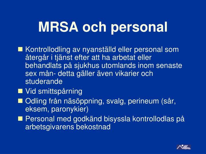 MRSA och personal