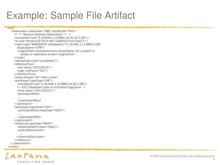 Example:Sample File Artifact