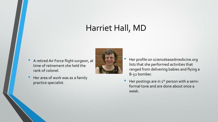 Harriet Hall, MD