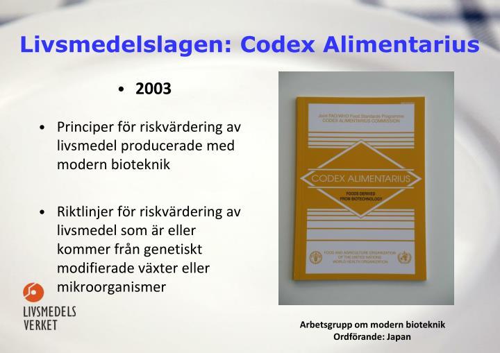Livsmedelslagen: Codex Alimentarius