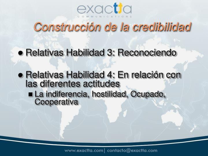 Construcción de la credibilidad