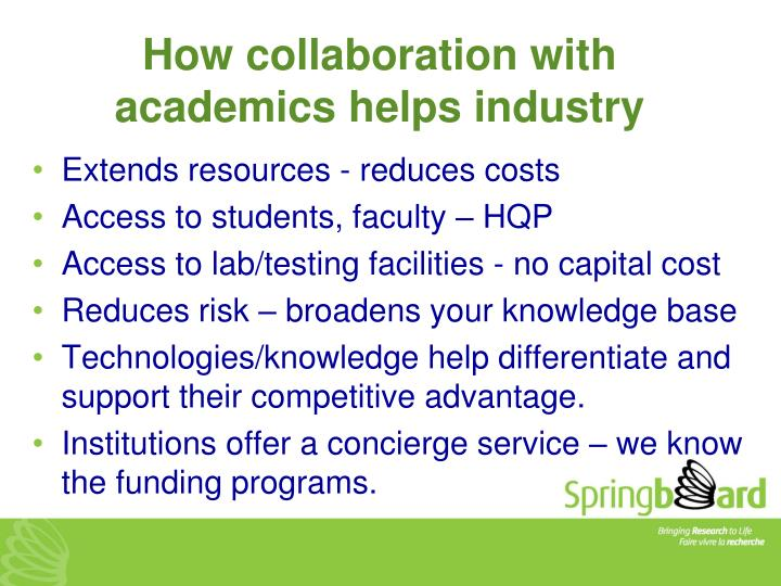 How collaboration with academics helps industry