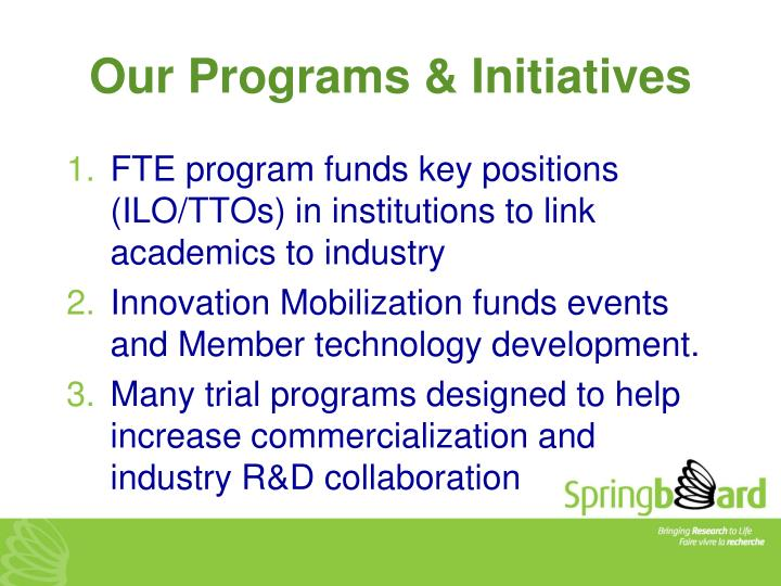 Our Programs & Initiatives