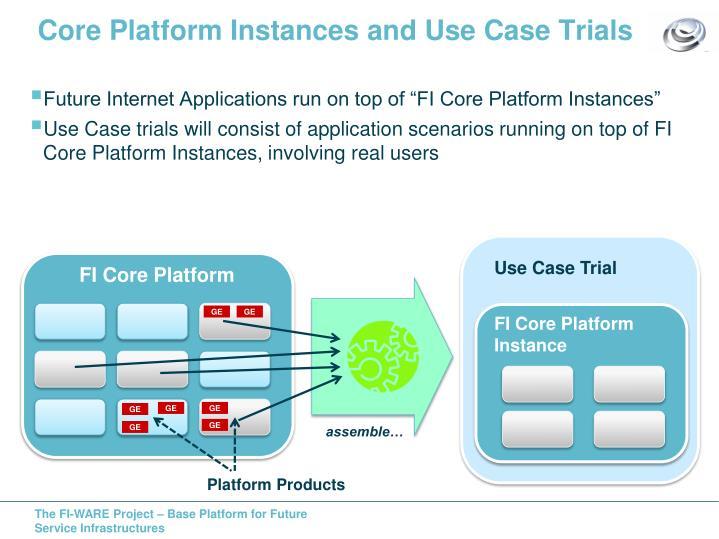 Core Platform Instances and Use Case Trials