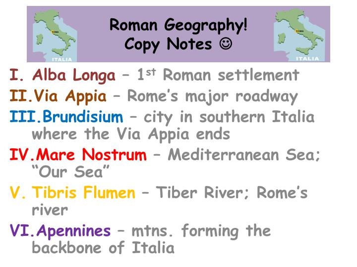 roman geography copy notes n.