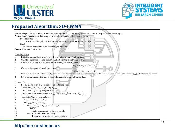 Proposed Algorithm: SD-EWMA