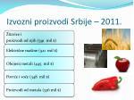 izvozni proizvodi srbije 2 01 1