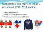 spoljnotrgovinska razmena srbije u periodu od 1990 2010 godine