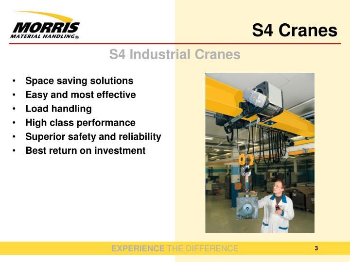S4 industrial cranes