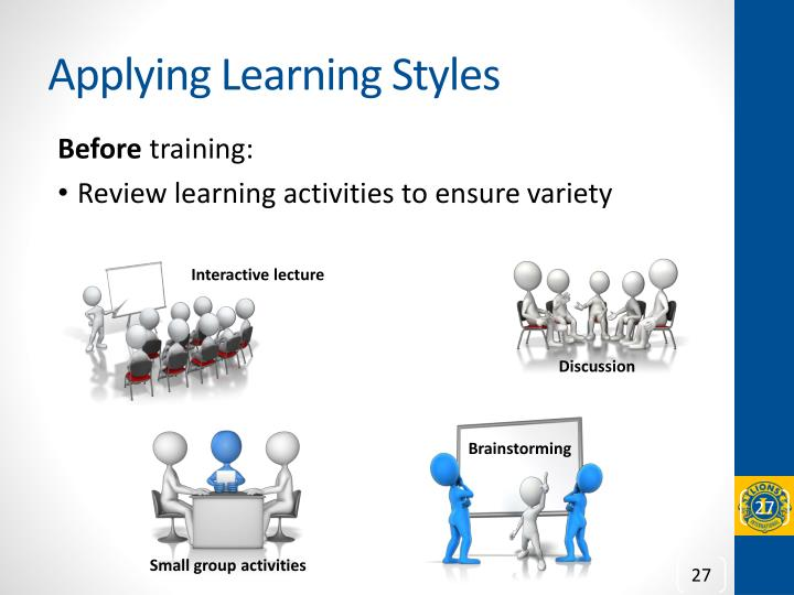 Applying Learning Styles