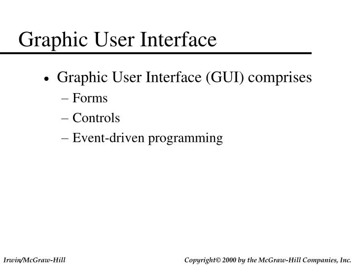 Graphic User Interface