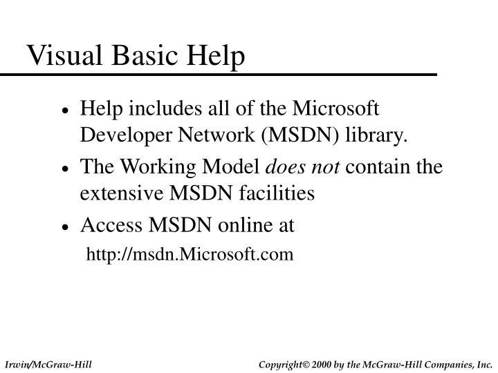 Visual Basic Help
