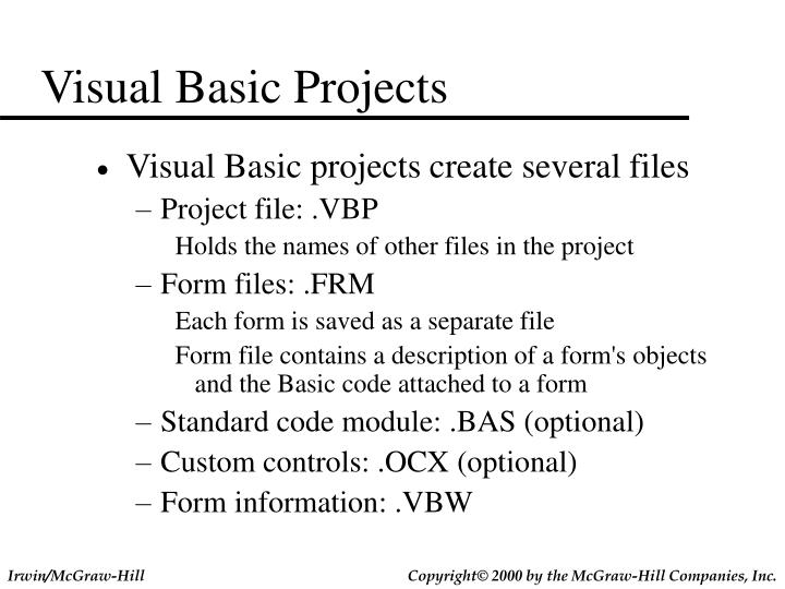 Visual Basic Projects