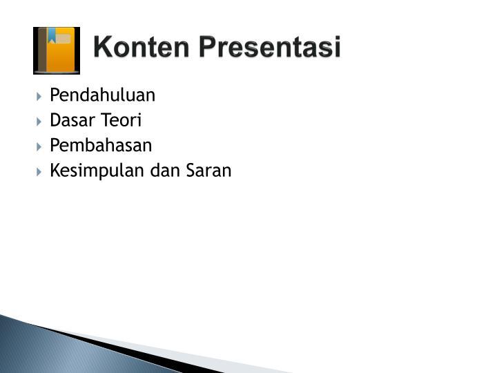 Konten presentasi