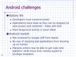 android challenges