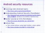 android security resources