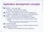 application development concepts