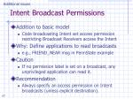 intent broadcast permissions