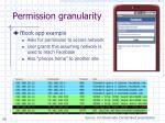 permission granularity