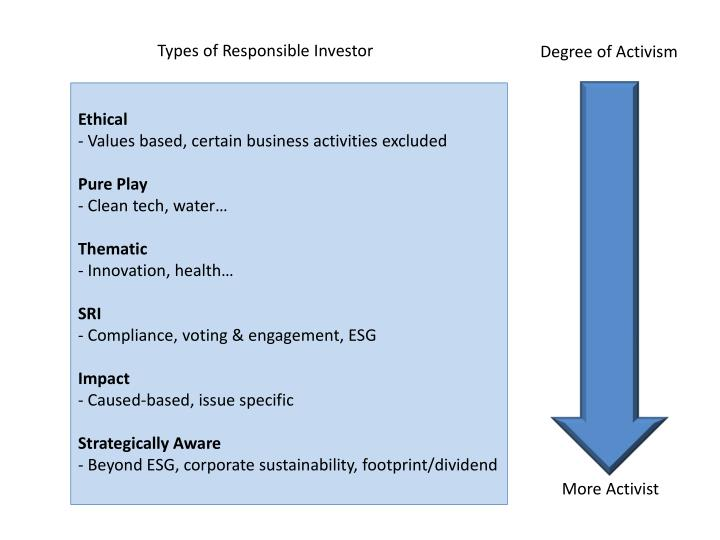 Types of Responsible Investor