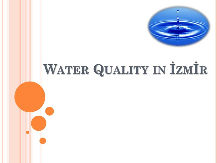 Water quality in zm r